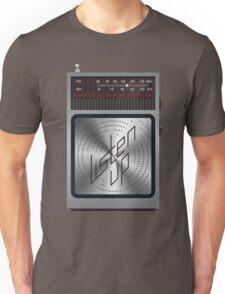 Listen Up -  Radio Illustration Type Treatment Unisex T-Shirt