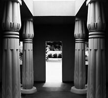Egyptian Park - Columns in black and White. San Jose, California 2011 by Igor Pozdnyakov