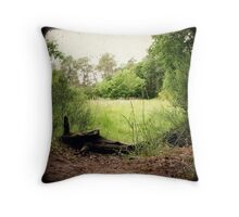 Entrance to grassland Throw Pillow