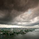 Storm clouds over Chao Phrya, Bangkok by Ken McColl
