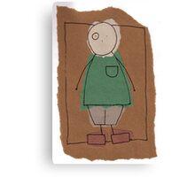Brown paper boy Canvas Print