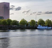 Evening Boating on the Willamette by Don Siebel
