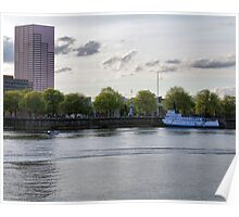 Evening Boating on the Willamette Poster