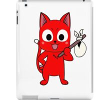 Anime cat and pack - red iPad Case/Skin