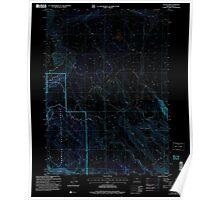 USGS Topo Map Oregon Collins Rim 279407 2004 24000 Inverted Poster