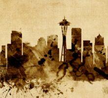 Seattle Washington Skyline Sticker