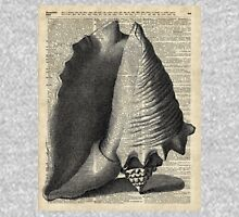 Vintage Shell over Dictionary book page Zipped Hoodie