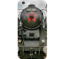 Old locomotive in a train museum iPhone Case/Skin