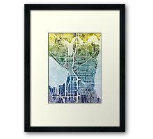 Seattle Washington Street Map Framed Print