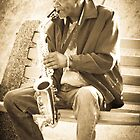 Playing the Sax  by George Moolman