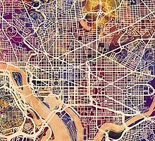 Washington DC Street Map by Michael Tompsett