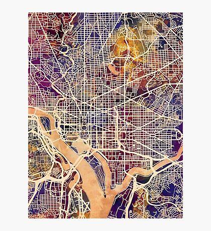 Washington DC Street Map Photographic Print