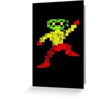 Repton - Vintage Gaming Character (Distressed) Greeting Card