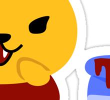 Vampire Pooh Sticker