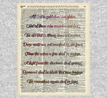 Bilbo Baggins Quote Over Old Book Page Zipped Hoodie