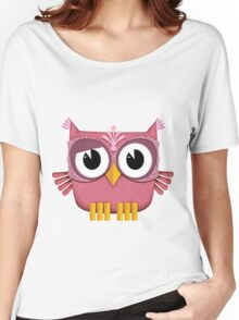 Cute Owl pink Women's Relaxed Fit T-Shirt