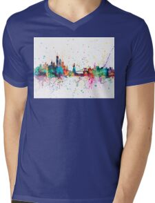 New York Skyline Mens V-Neck T-Shirt