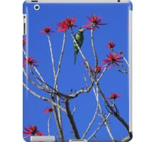 Parakeet in a Coral Tree iPad Case/Skin