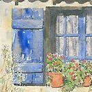 Blue Shuttered Window by ian osborne
