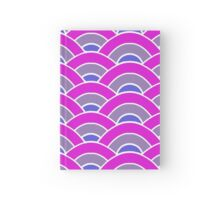 Pink, Purple, and Blue Scallop V2 Hardcover Journal