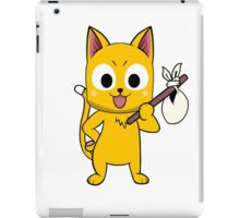 Anime cat and pack - yellow iPad Case/Skin