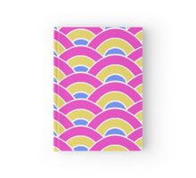 Pink, Yellow, and Blue Scallop V2 Hardcover Journal