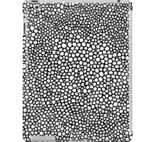 Black and White Hand Drawn Dots iPad Case/Skin