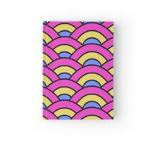 Pink, Yellow, and Blue Scallop Hardcover Journal
