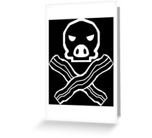 Bacon Pirate Greeting Card