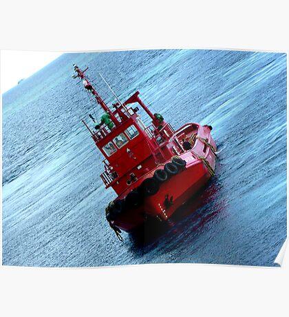 Red Tugboat Nukualofa Tonga Poster