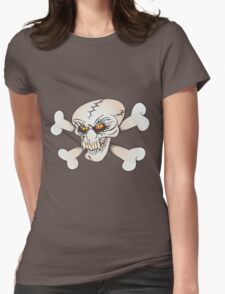 angry skull Womens Fitted T-Shirt