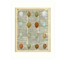 Colourful Eggs Vintage Collage Easter Gift Art Print