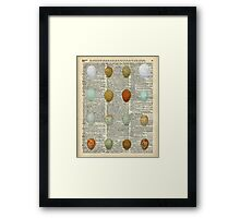 Colourful Eggs Vintage Collage Easter Gift Framed Print