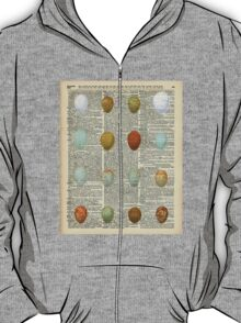 Colourful Eggs Vintage Collage Easter Gift T-Shirt
