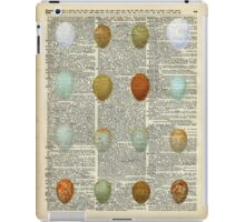 Colourful Eggs Vintage Collage Easter Gift iPad Case/Skin