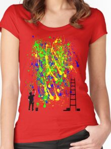 Night Artist Women's Fitted Scoop T-Shirt