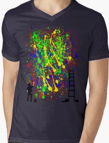 Night Artist Mens V-Neck T-Shirt