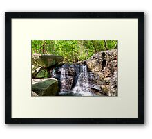 Waterfall in a Sunny Hollow Framed Print