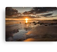 Sunset West coast of Scotland Canvas Print