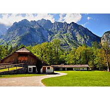 Country Feeling at Berchtesgaden Photographic Print