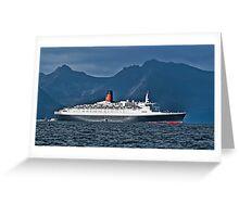 Last Voyage QE2 Greeting Card