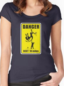 DANGER! Complicated Death Ahead Women's Fitted Scoop T-Shirt