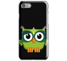 Cute Owl green iPhone Case/Skin