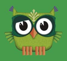 Cute Owl green Kids Clothes