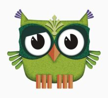 Cute Owl green Kids Tee