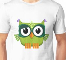 Cute Owl green Unisex T-Shirt