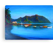 Kaneohe Bay - early morn Canvas Print