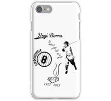 Yogi Berra RIP bl iPhone Case/Skin