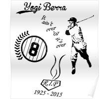 Yogi Berra RIP bl Poster
