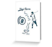 Yogi Berra RIP Greeting Card